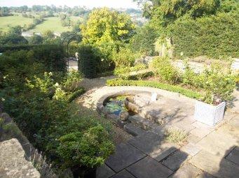 rose garden - framed by box hedging